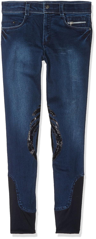 Harry 's Horse Dirty Denim Grip, Pantalones de Equitación Infantil, Azul, 164 Harry' s Horse 26000310