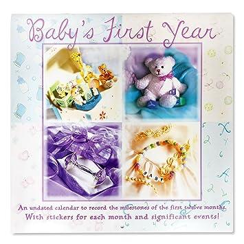 Amazon.com: Pegatinas de calendario primer año del bebé ...