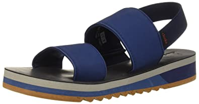 120c2d734211 Chooka Women s Yoga Flatform Sport Sandal Steel Blue 6 ...