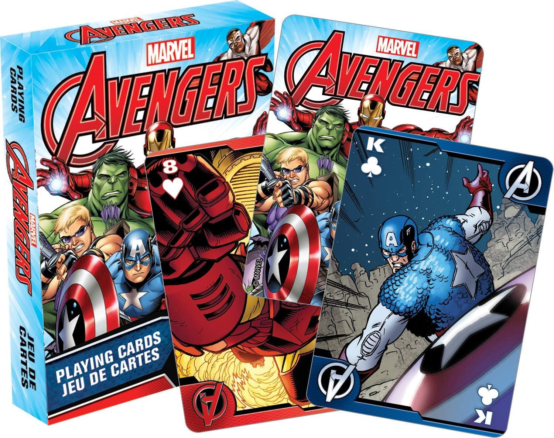 AQUARIUS Marvel Comics de Los Vengadores Juego de Cartas: Amazon.es: Juguetes y juegos