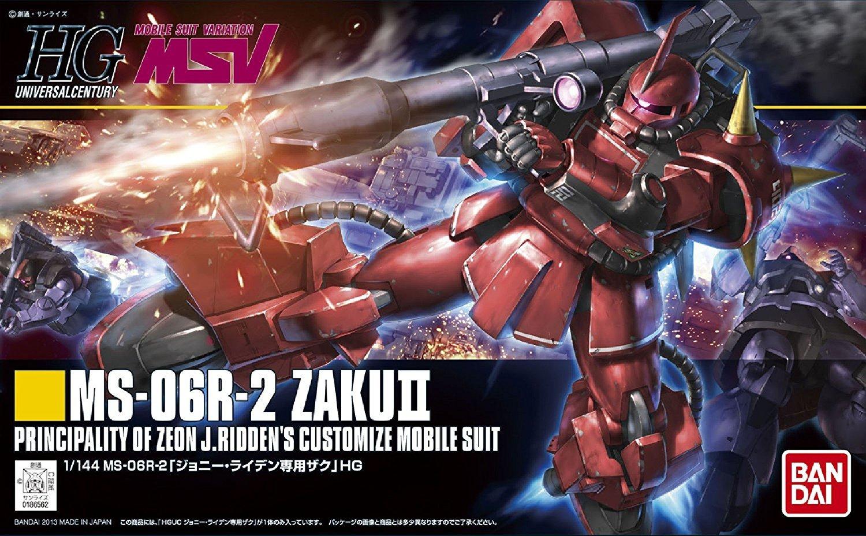 Bandai Hobby HGUC #166 MS-06R-1A Zaku II Johnny Ridden Custom Action Figure
