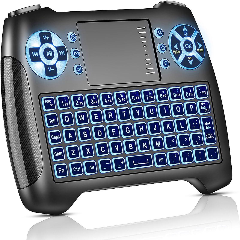 Molorical Mini Tastatur Mit Touchpad Beleuchtet Computer Zubehör
