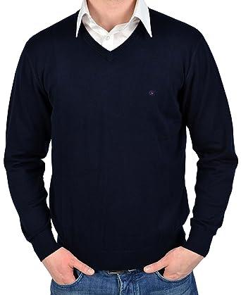 a2891664845 Casa Moda, v-neck sweater, navy: Amazon.co.uk: Clothing
