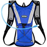 Hydration Pack / Water Backpack with 2L Water Bladder Perfect For Running Cycling Hiking Climbing Pouch.