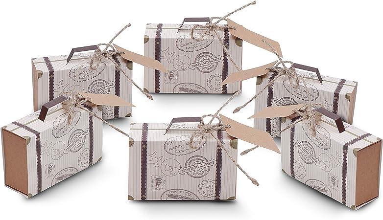 Cajas para Favores Mini Maletas Viaje - Regalos de Caramelos ...
