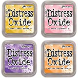 NEW Ranger Tim Holtz Distress Oxide 4 Ink Pads: FOSSILIZED+WORN+WILTED+SPICED