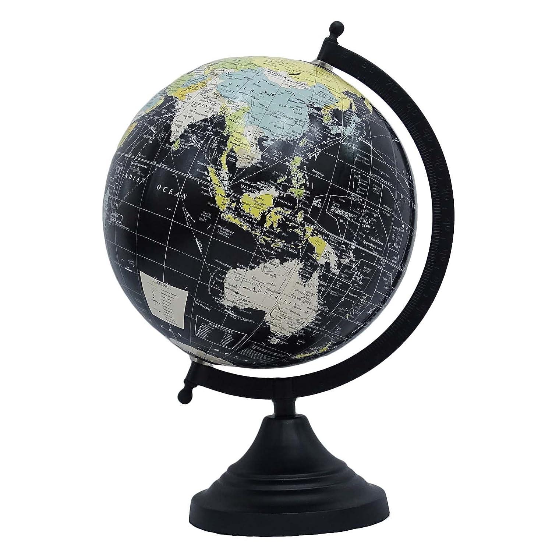 medio de escritorio mundo que gira globo terrqueo decoracin mesa ocano negro