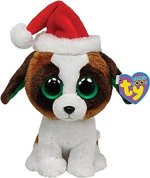 Ty Beanie Boo - Perro de peluche con gorro de Navidad: Amazon.es: Juguetes y juegos