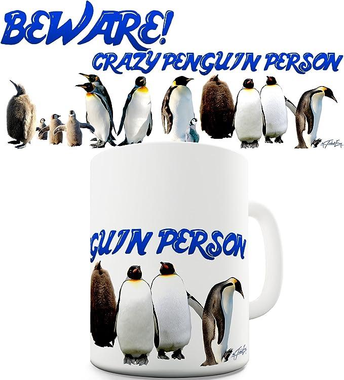 Beware Of The Crazy Penguin Ceramic Mug Novelty Mug Gift Present