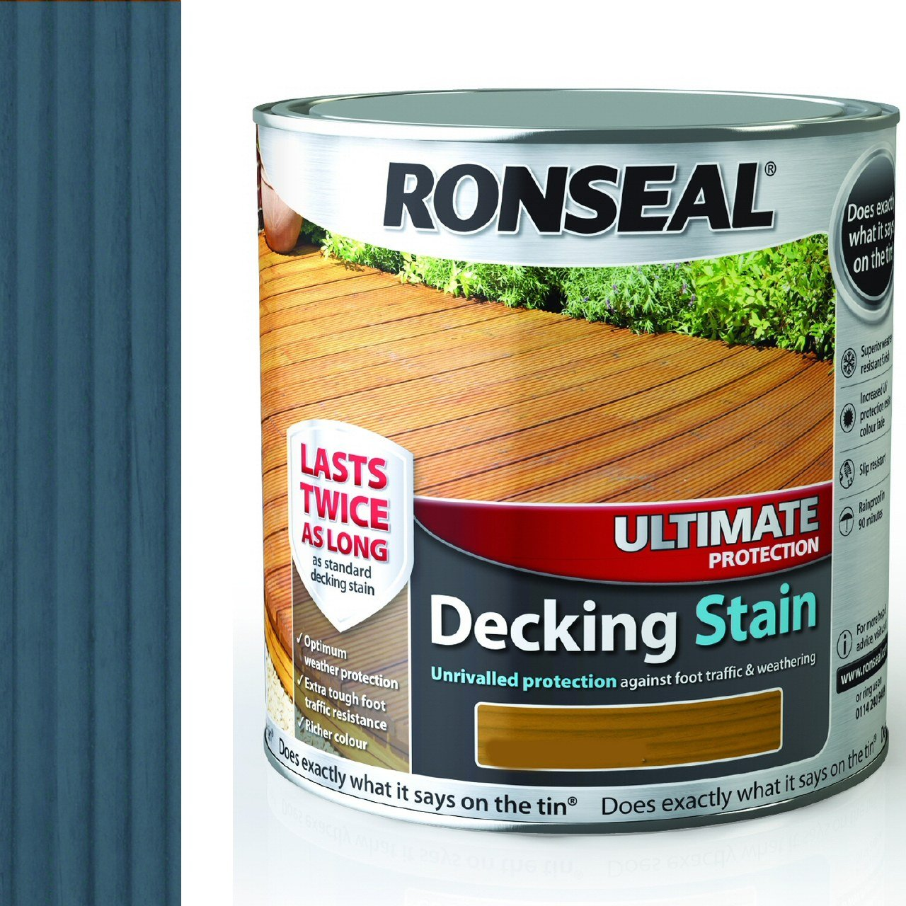 Ronseal rsludss25l 25l ultimate protection decking stain slate ronseal rsludss25l 25l ultimate protection decking stain slate amazon diy tools baanklon Image collections
