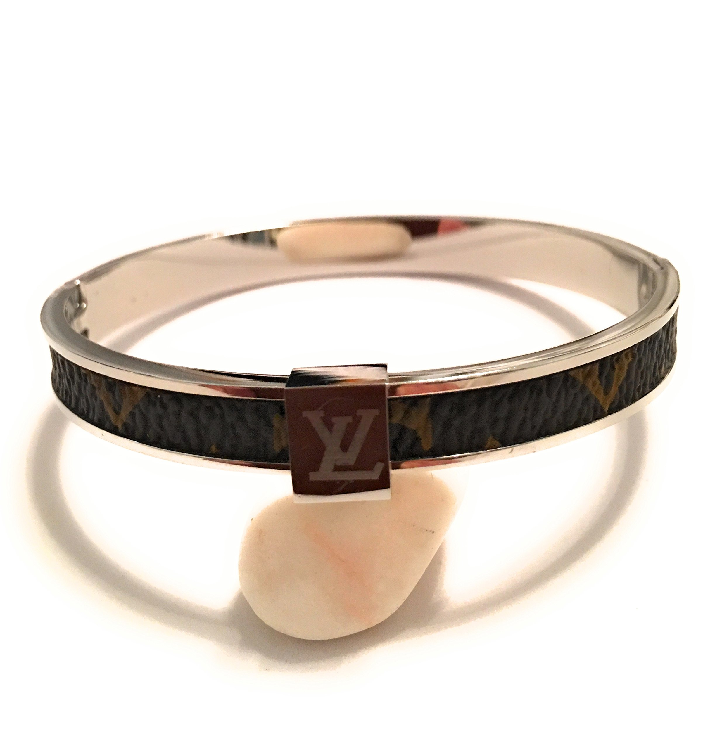 Louis Vuitton Woman Luxury Cuff Wrap Silver Monogram Bracelets Silver Bangle Bracelet