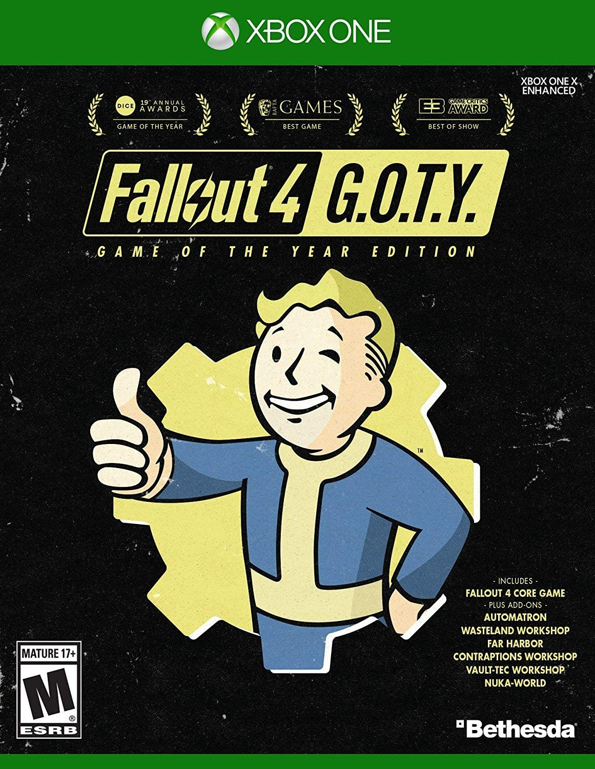 Best Fallout 4 Mods Xbox One 2020.Amazon Com Fallout 4 Game Of The Year Edition Xbox One