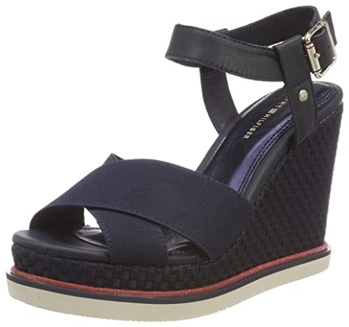 Tommy Hilfiger Sporty Stretch Wedge Corporate, Alpargata para Mujer: Amazon.es: Zapatos y complementos