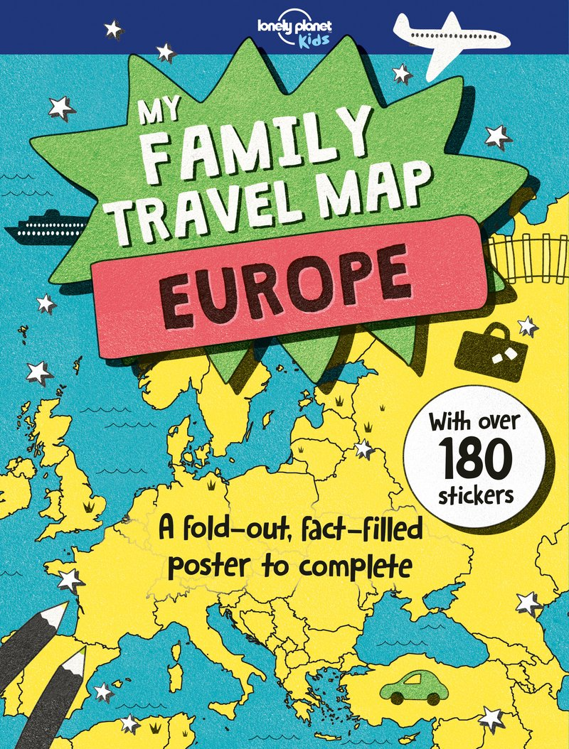 plan my europe trip map My Family Travel Map   Europe: Lonely PlaKids, Fullman, Joe