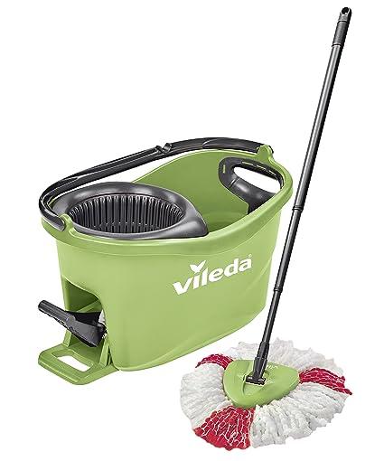 Vileda Turbo EASYWORLD Anillo & Clean Box Suelo Set de Limpieza, Plástico, Verde,
