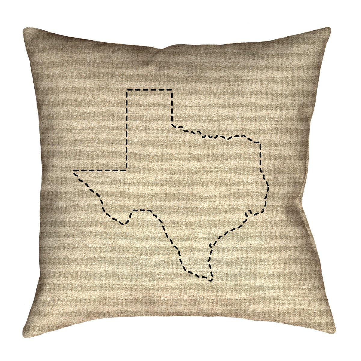 ArtVerse Katelyn Smith 36' x 36' Floor Double Sided Print with Concealed Zipper & Insert Texas Outline Pillow SMI400F3636L