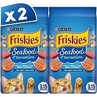 Purina Friskies Seafood Sensations Dry Cat Food 1.42kg (Pack of 2)