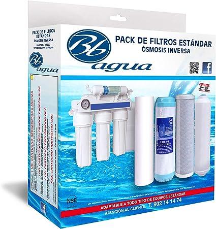 Bbagua Filtros para Equipos de Osmosis inversa estandar, Blanco ...
