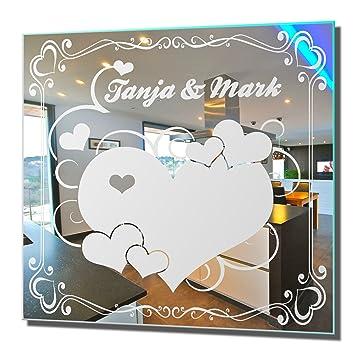 Wanddeko Spiegel motivspiegel liebe 1 wandbild wanddeko spiegel mit gravur
