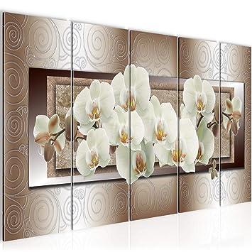 Bilder Blumen Orchidee Wandbild 200 X 80 Cm Vlies Leinwand Bild