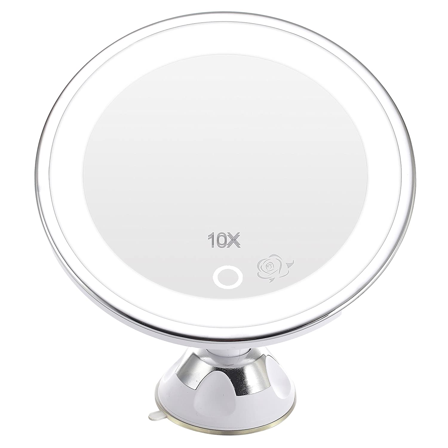 A 10X 7.7inch White Miss Sweet 10/ x LED Illuminato Magnifying Makeup Mirror Specchio a Ventosa