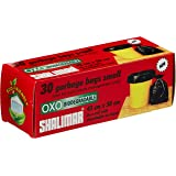 Shalimar Premium OXO - Biodegradable Garbage Bags (Small) Size 43 cm x 51 cm 4 Rolls (120 Bags) (Dustbin Bag/Trash Bag…