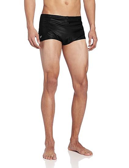 abb4f0ee184cc Amazon.com : Speedo Men's Solid Nylon Square Leg Training Swimsuit ...