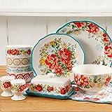 The Pioneer Woman Vintage Ruffle Linen 20-Piece Dinnerware Set (Floral)