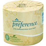 Georgia-Pacific Preference 18280/01 2-Ply Embossed Bathroom Tissue, White 4.05 L x 4 W-Inch (Case of 80 Roll, 550 Sheets per Roll)