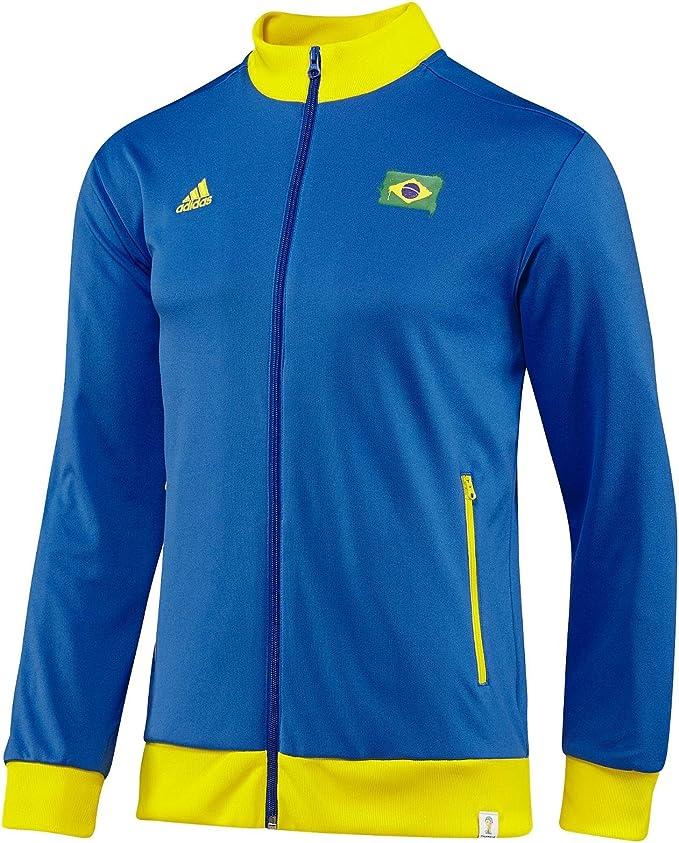 adidas Brasilien Herren Tracktop Sport Jacke Brazil WM 2014