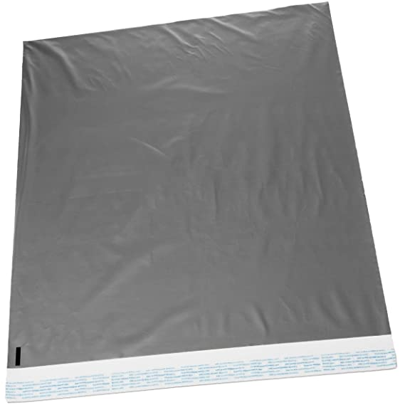 22x28 Jumbo Self-Seal Poly Mailer Bags 2.5 Mil Silver (10 Pack)