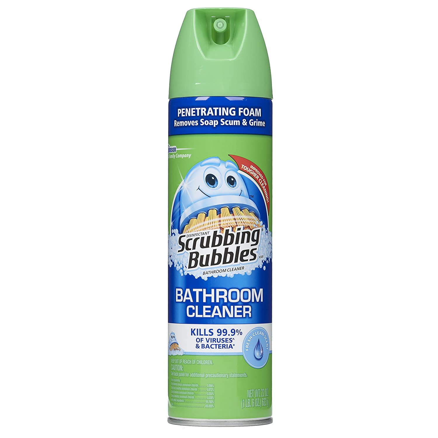 Amazon.com: Scrubbing Bubbles Antibacterial Bathroom Cleaner Aerosol, Fresh  Clean, 22 OZ (Pack Of 3): Health U0026 Personal Care