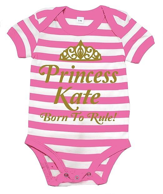 Nombre de Princess * Personalizado * BORN TO regla rosa y blanco body de diseño