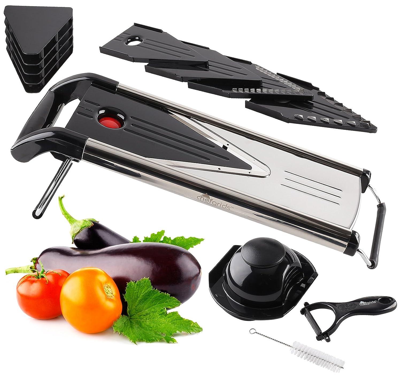 Amazon.com: Chef Grids V Blade Mandoline Slicer Stainless Steel Food ...