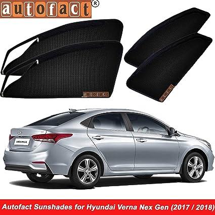 Autofact Magnetic Window Sunshades For Hyundai Verna Fluidic Black