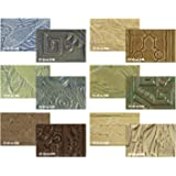 AMACO Stone Textured Glaze Classroom Pack, 1 pt, Assorted Colors, Pack of 6