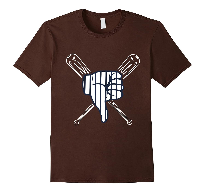 Thumbs Down Baseball Shirt-T-Shirt