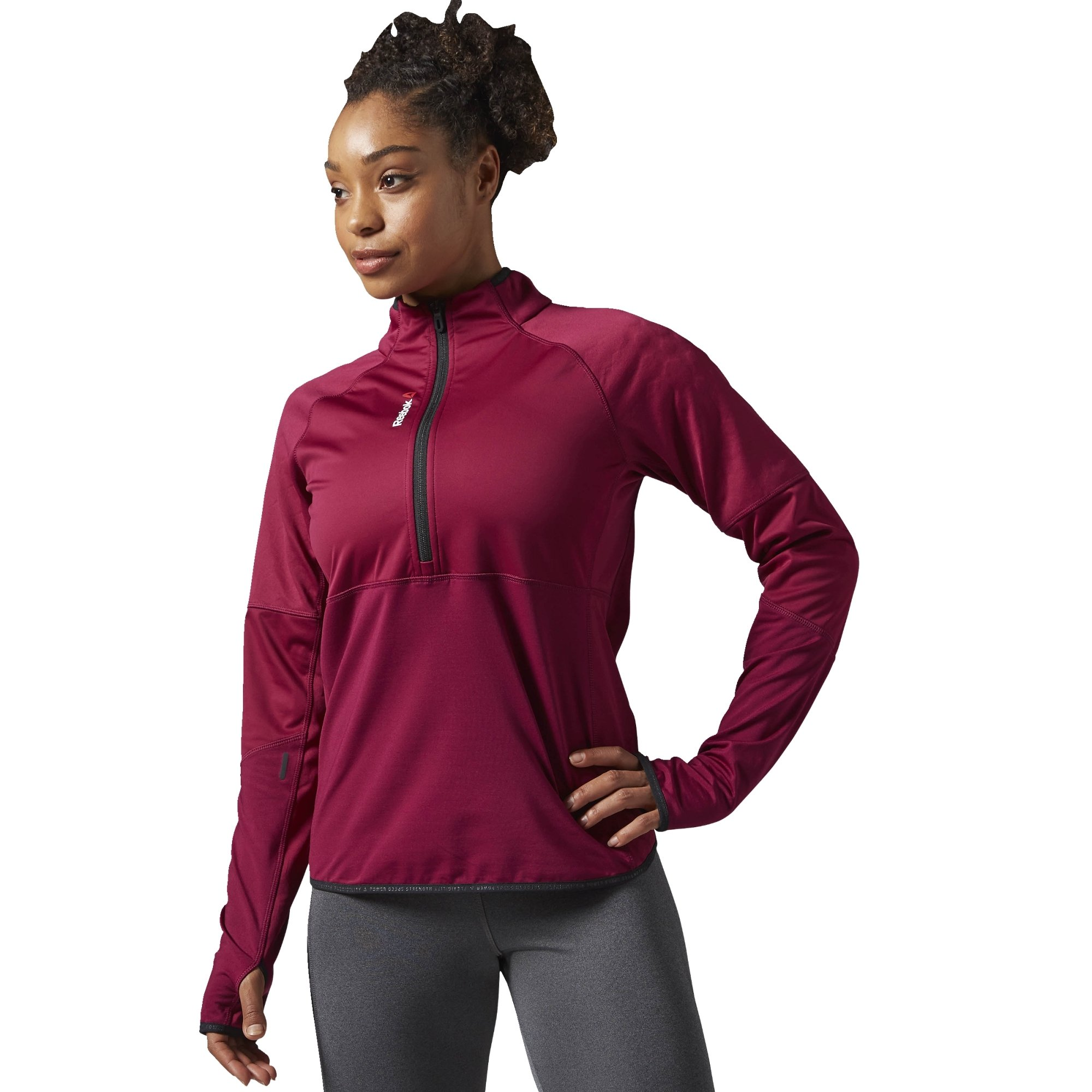 Reebok Women's Hex Thermal Quarter Zip Jacket