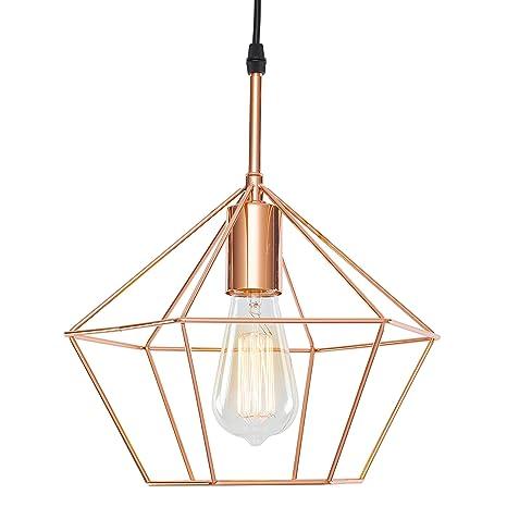 light society verity geometric pendant light rose gold modern