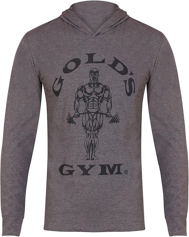 Golds Gym Hooded Long Sleeve T-Shirt Unisex-Adulto
