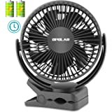 Amazon Price History for:OPOLAR Clip Fan with 5200mAh Battery and Timer, 3 Speeds, Strong Clamp, 7 blade, Rechargeable Battery or USB Powered, Clip & Desk Fan 2 in 1, Quiet for Baby Stroller, Crib, Treadmill, Office, Outdoor