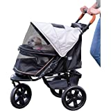 Pet Gear No-Zip Jogger Pet Stroller for Cats/Dogs, Zipperless Entry, Airless Tires, Easy One-Hand Fold, Cup Holder + Storage