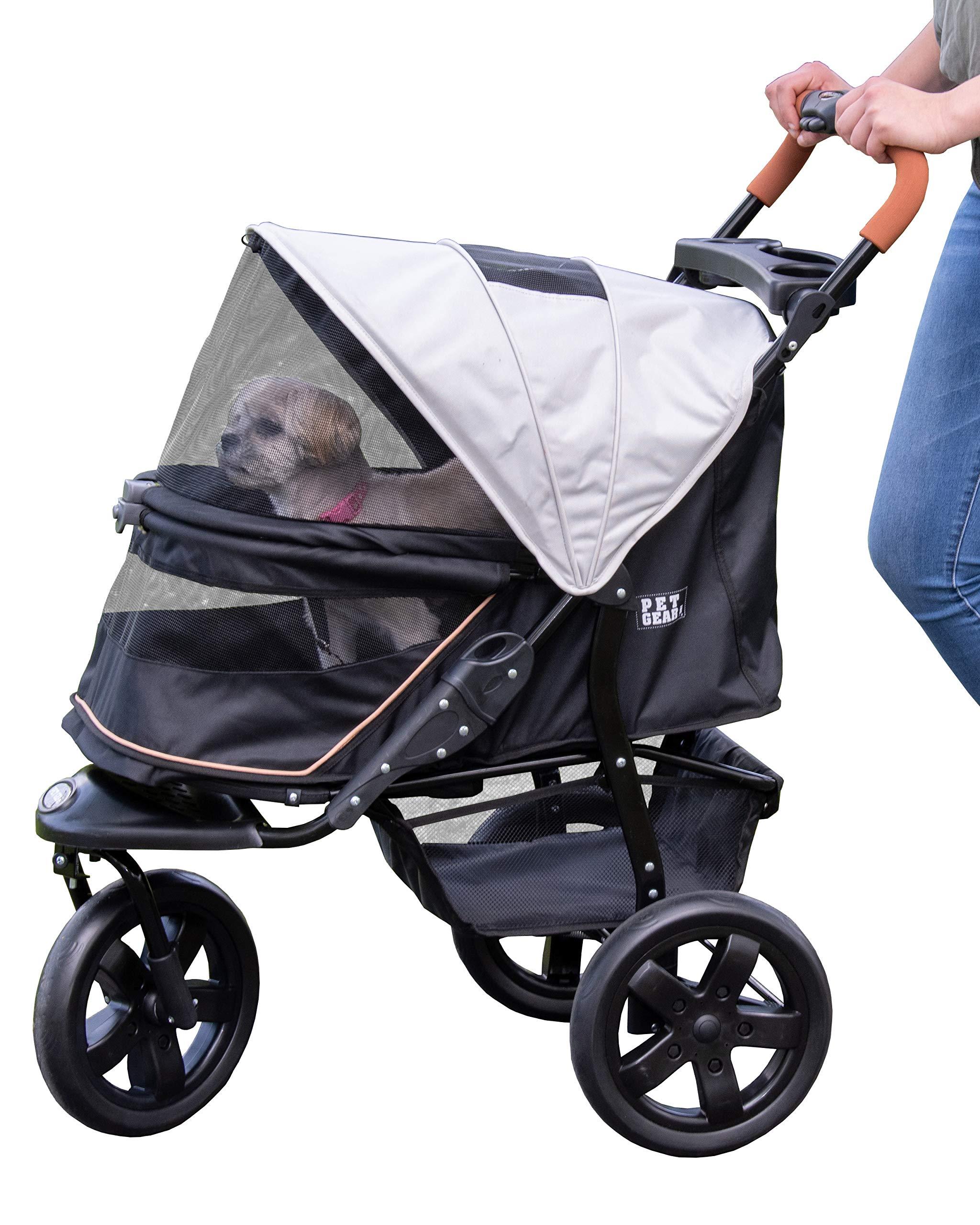 Pet Gear AT3 No-Zip Pet Stroller, Summit Grey by Pet Gear
