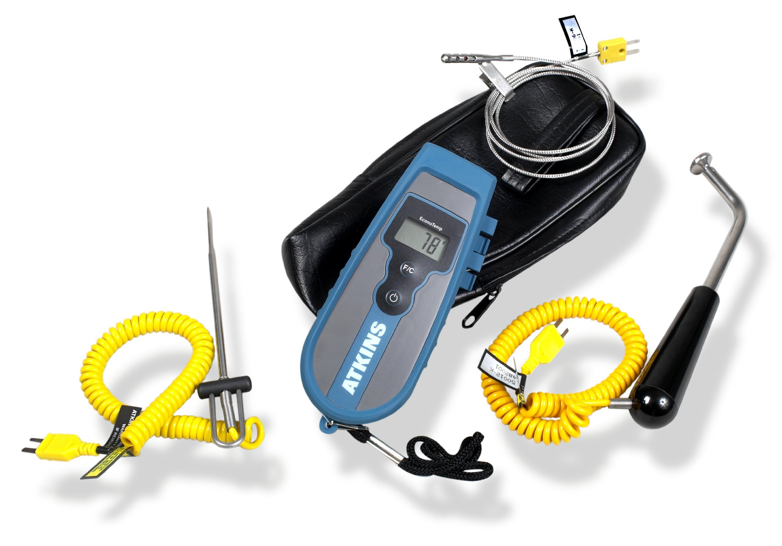 Cooper-Atkins 93013-K EconoTemp Thermocouple Kit, 3 Probes and 1 Soft Carrying Case
