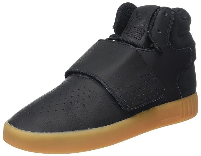 adidas Herren Tubular Invader Strap Hohe Sneaker, Schwarz (Core Black/Gum/Footwear White), 41 1/3 EU