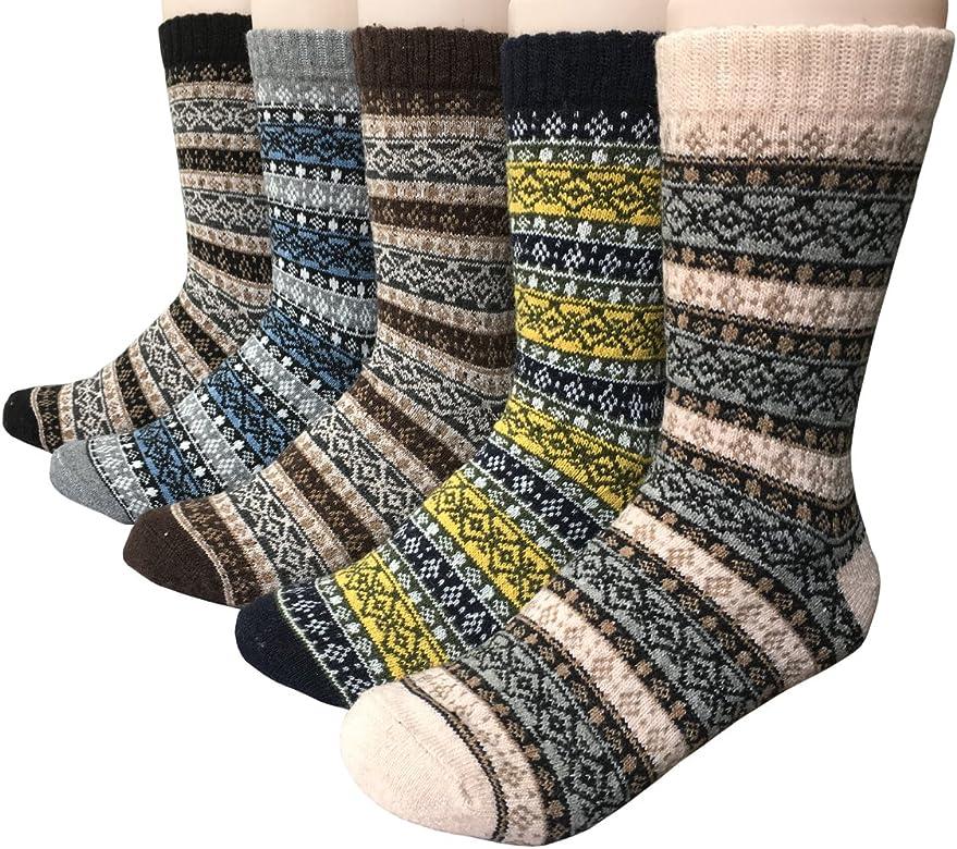Vellette Calcetines termicos ricos en algodon para Hombre-Muje-Ideales para invierno EU 38-44 (5 Pares): Amazon.es: Ropa y accesorios