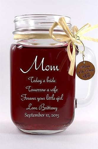 Amazon Mom Wedding Gift Mason Jar Mother Of The Groom Gift Or