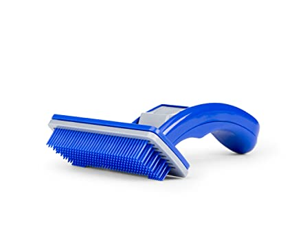 Do-Be Groom Ninja - Slicker Grooming Brush for Dogs and Cats, Spring-Loaded Self-Cleaning Feature, Remove Shedding Hair, Tangles and Matting, Flexible ...
