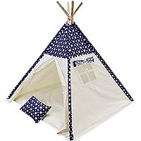 Fi Çadır Çocuk Oyun Çadırı Üst Yıldızlı Mavi