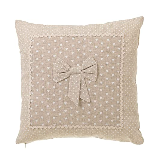 Lola Home Cojín de 45x45 romántico Beige de algodón para ...